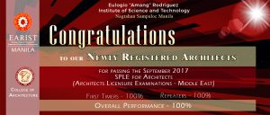 Congratulations! for our Newly Registered Architects.